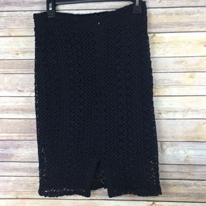 Free People Skirts - Free people Women's Black Knit Skirt Size 6
